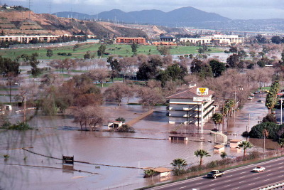 FIGURE 8.13. The flood of January 1978 in Mission Valley.